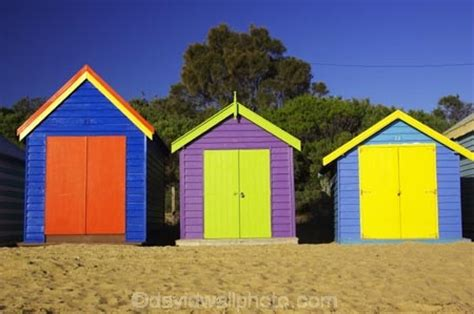bathing boxes middle brighton beach port phillip bay melbourne victoria australia