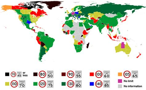 washington dc speed limit map how fast can you go map of maximum speed limits around