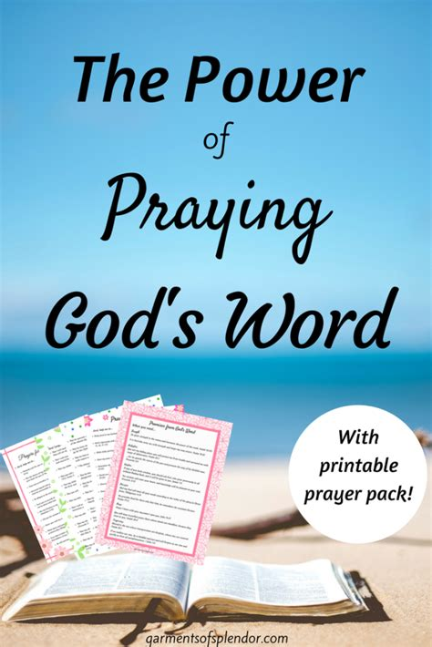 The Power Of Praying the power of praying god s word with printable prayer