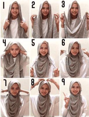 tutorial hijab jilbab pashmina simple praktis