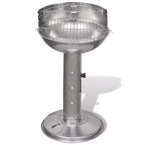 Grill For Bbq Stainless Steel by Stainless Steel Pedestal Charcoal Bbq Grill Vidaxl