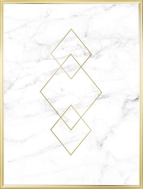 marmor bilder plakat med gulltriangler p 229 marmor posters innredning