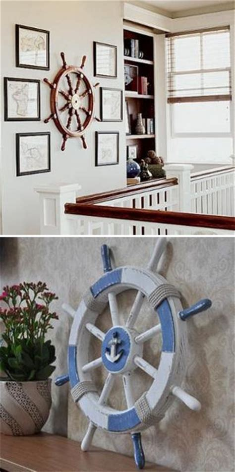 nautical themed decorations for home nautical decor ideas enhanced by vintage ship wheels and