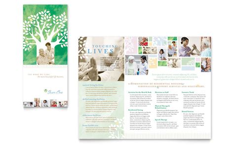 brochure layout terminology elder care nursing home brochure template word publisher