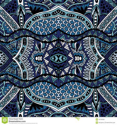 Ethnic Blue blue ethnic seamless pattern design stock vector