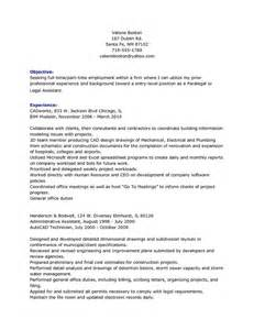 Resume Sles For Paralegal Assistants Personal Injury Paralegal Resume Objective Experience Slebusinessresume