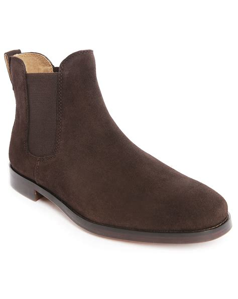 brown polo boots polo ralph dillian suede chelsea boots in brown for