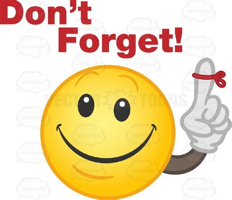 Dont Forget by Yellow Smily With Black Arm And Gloved Finger