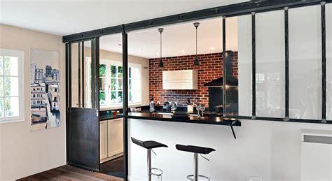 mod鑞e de cuisine ouverte cuisine ouverte une verri 232 re en mode coulissant