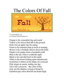 poems about colors classroom freebies the colors of fall