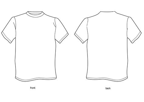 template of t shirt t shirt design template cliparts co