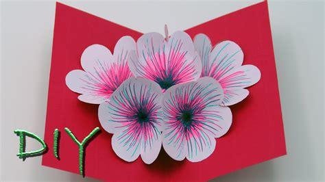 Pop Up Karten Selber Machen Anleitung by Basteln Mit Papier Pop Up Karten Selber Basteln Diy