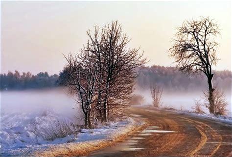 winter road a photo from kujawsko pomorskie west trekearth