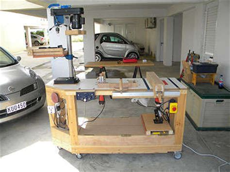 power tool bench macguyver s workshop no space no problem