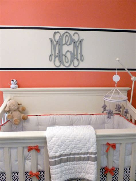 Coral And Navy Nursery by Coral Navy And Gray Vineyard Vines Inspired Nursery