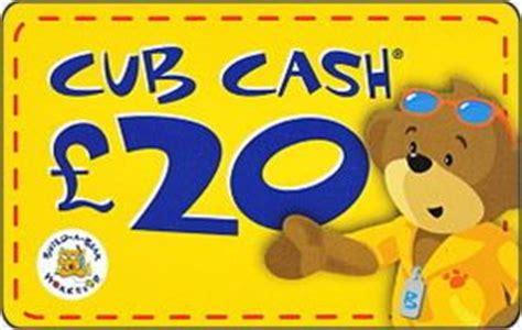 Cub Gift Card - gift card cub cash l 20 build a bear united kingdom bear series col gb bui 039