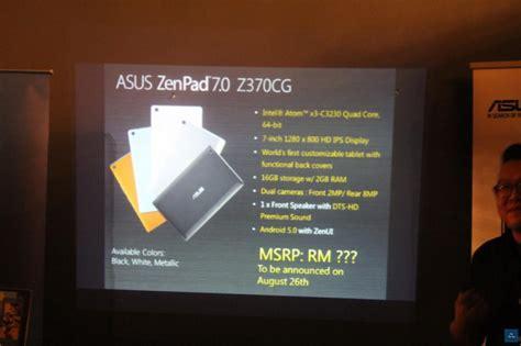 Hp Asus Pasaran Malaysia asus malaysia memulakan penjualan asus zenpad untuk pasaran tempatan amanz