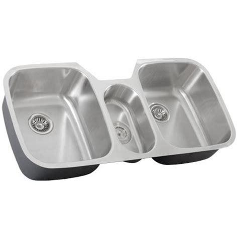 3 Bowl Kitchen Sink by 43 Inch Stainless Steel Undermount Bowl Kitchen