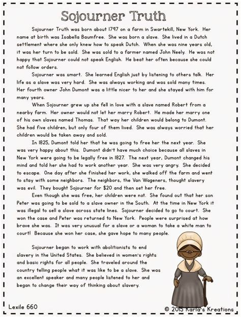 harriet tubman biography 3rd grade informational text about important people in civil war