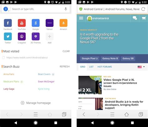 android browser update best android browsers android central