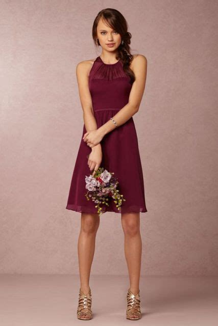 wine color dress 20 stunning marsala bridesmaid dress ideas for fall