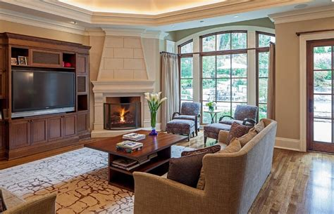 corner fireplace living room inspiring interior designs focused on corner fireplaces