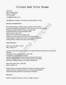 resume sle for bank teller position bestsellerbookdb