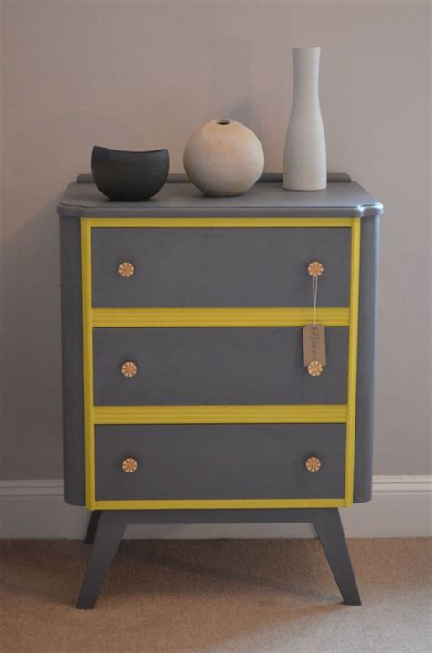 retro style chest  drawers  grey  annie sloan