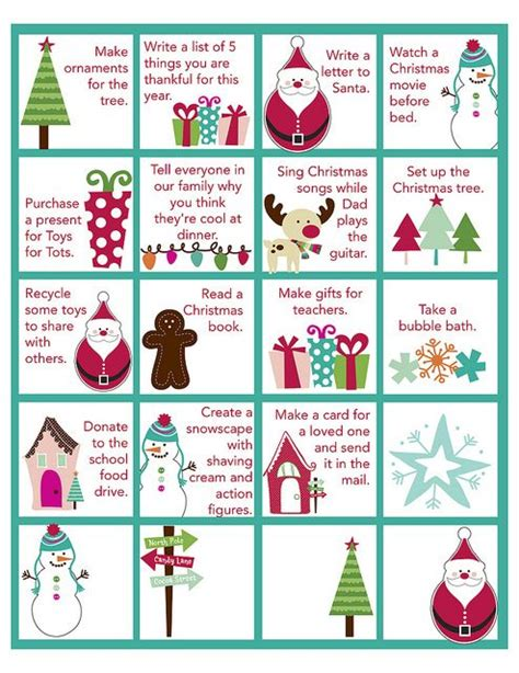 printable advent calendar coupons 19 best images about christmas advent countdown on