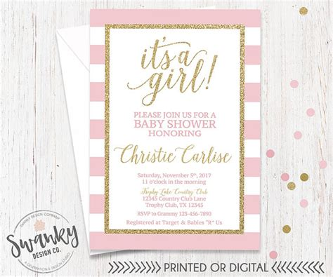 pink and gold baby shower invitation pink and gold baby shower invitation its a by