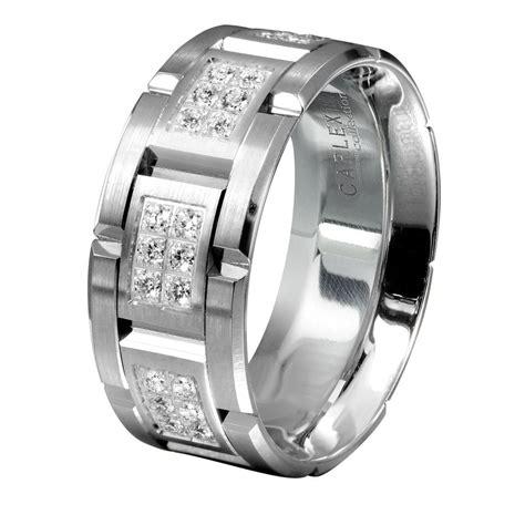 mens wedding bands mens white gold diamond wedding