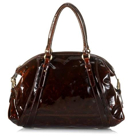 Cole Haan Dome Satchel Bag by Cole Haan Patent Leather Dome Satchel Handbag