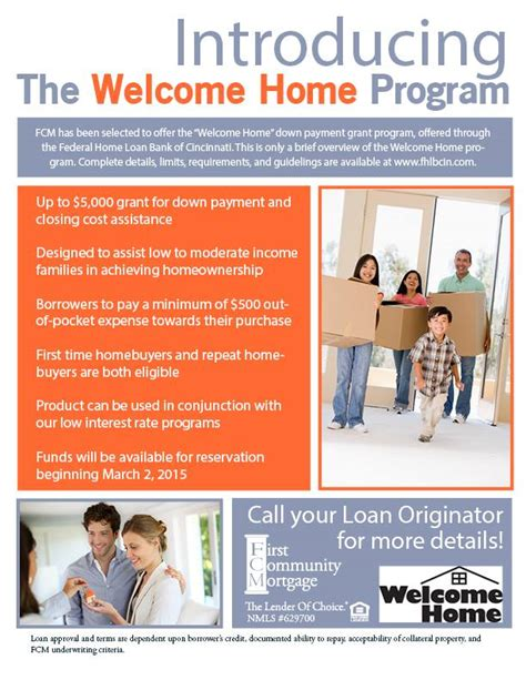 Time Home Buyer Government Programs by 2017 Welcome Home Program For Kentucky Home Buyers