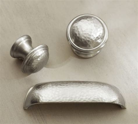 Pottery Barn Knobs by Ella Hammered Pull Vintage Pewter 12 Knobs Pulls