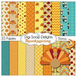 thanksgiving digital papers w turkey pilgrim by digiscrapdelights