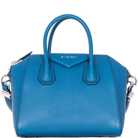 Givenchy Antigona Pouch Blue 1801145 givenchy blue hammered leather small quot antigona quot bag in blue lyst