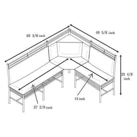 corner booth seating dimensions 3 pc black silver metal breakfast nook dining set corner