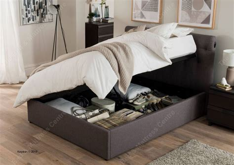 kaydian uk versace automatic lift ottoman in grey bed frame bed mattress centre