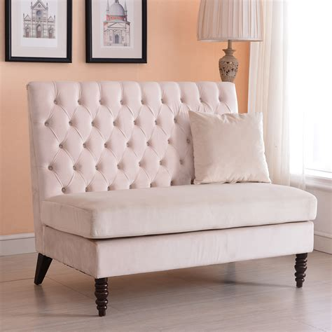 velvet settee sofas new modern tufted settee bedroom bench sofa high back