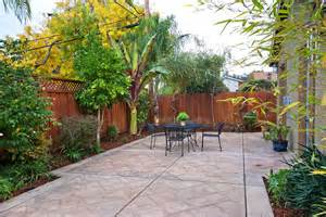 Patio Ideas For Small Yard Looking Sted Concrete Cost Trend San Francisco