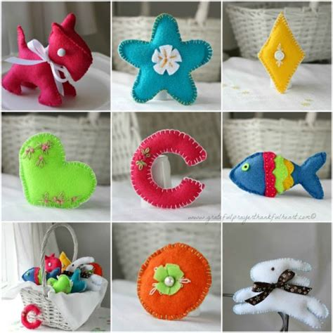 Handmade Soft Toys Free Patterns - cool diy gift for basket of handmade soft felt toys