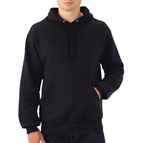 hooded plain black sweatshirt pullover hoodie fleece cotton blank new ebay