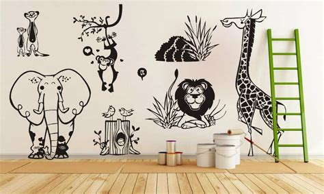 zoo wall stickers compare prices on jungle animal zoo living wall stickers