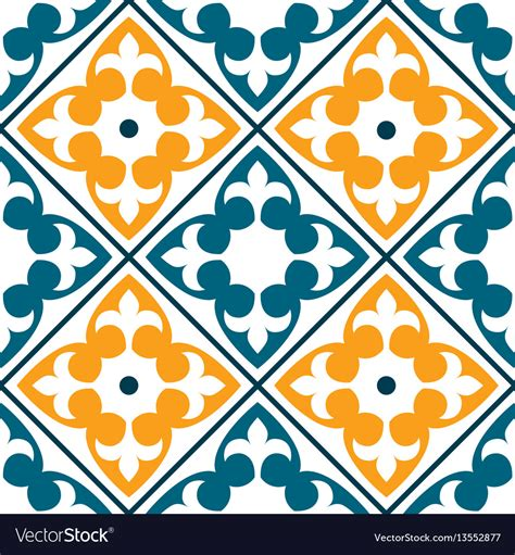 standard pattern in spanish spanish tile pattern portuguese or moroccan tile vector image