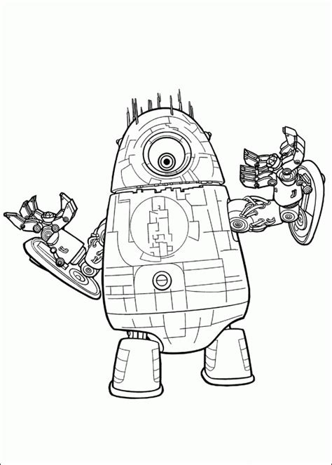 monsters vs aliens coloring pages coloringpagesabc com
