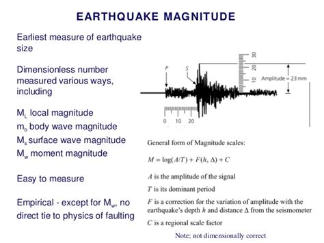 earthquake magnitude definition connecting earthquakes and faults