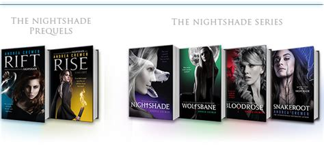 the series books nightshade by andrea cremer