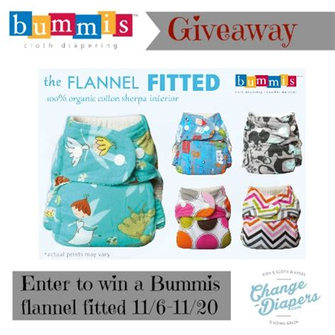 Free Cloth Diaper Giveaway - bummis flannel fitted cloth diaper giveaway 11 20 u s canada