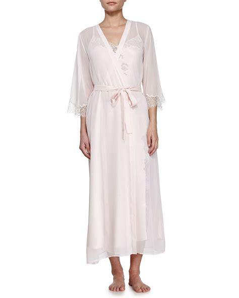 Floor Length Robes by Oscar De La Renta Floor Length Robe With Belt In