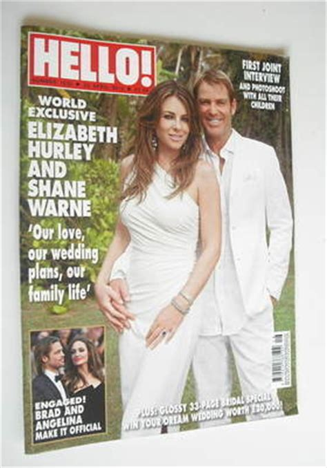 Elizabeth Hurley In Hello Magazine And Also Another Wedding Dress by Hello Magazine Elizabeth Hurley And Shane Warne Cover
